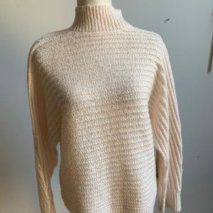 Tahari BNWT ivory knit sweater New Large mock neck